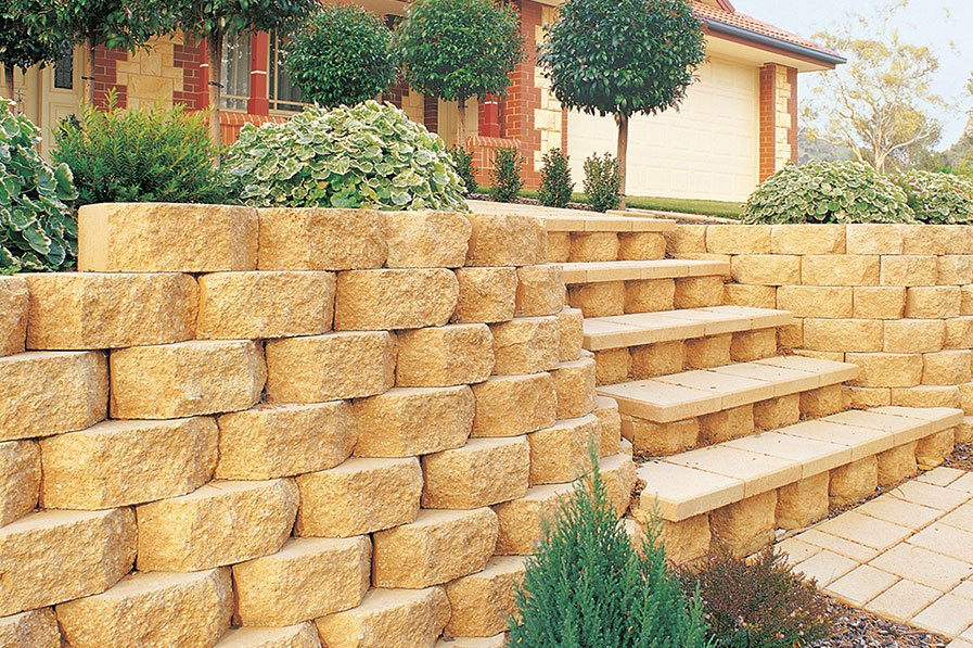 Valleystone Retaining Wall Block - Shantana Landscape Supplies